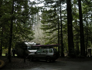 morning in Grizzly Creek SP California
