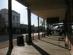 boardwalk sidewalks but asphalt street