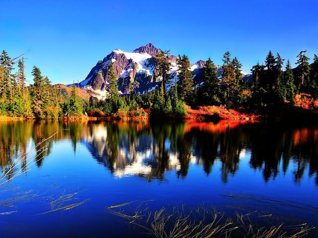 Mount Shuksan, view from Highwood Lake, WA