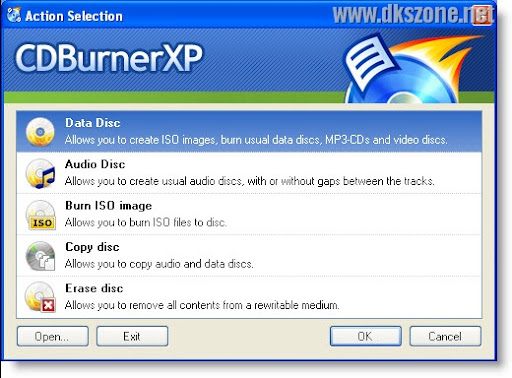 CDBurnerXP free burning software