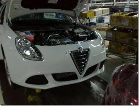 Alfa Romeo Milano spy flagra