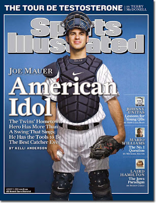Reasons for including a Joe Mauer: 1) I like him. 2) Hes hot. 3) Hes on my fantasy team.