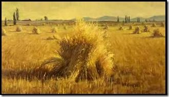 wheat field painting