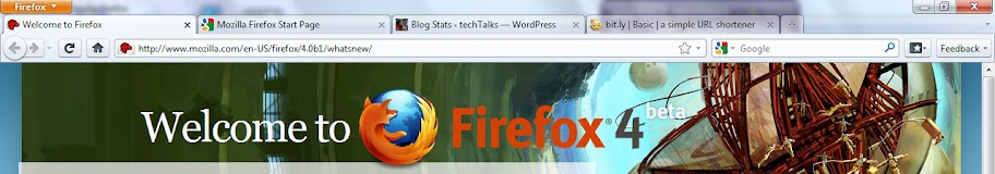 Firefox 4 Beta 1 on Windows 7