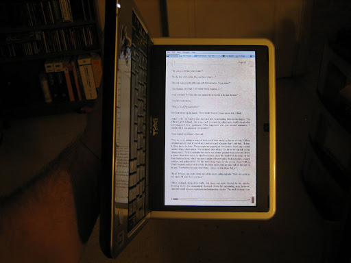 eReader view on a netbook