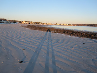 Long shadows, me and dad