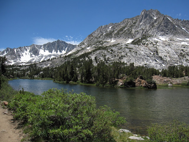 Lake below Bishop Pass-Sierra Nevada, CA