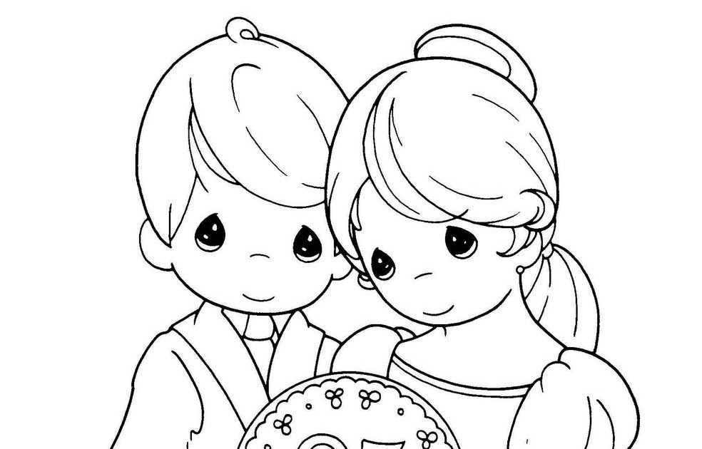 wedding anniversary coloring pages, precious moments