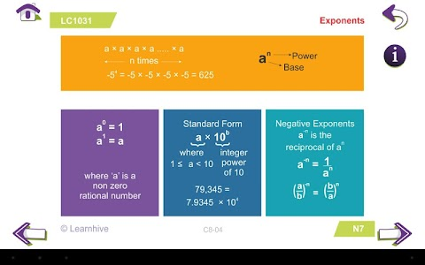 Grade 8 Math Learning Cards screenshot 9