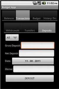 Budget App screenshot 3