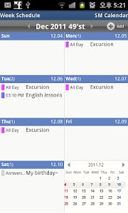 SM Calendar Lite(Schedule) screenshot 2