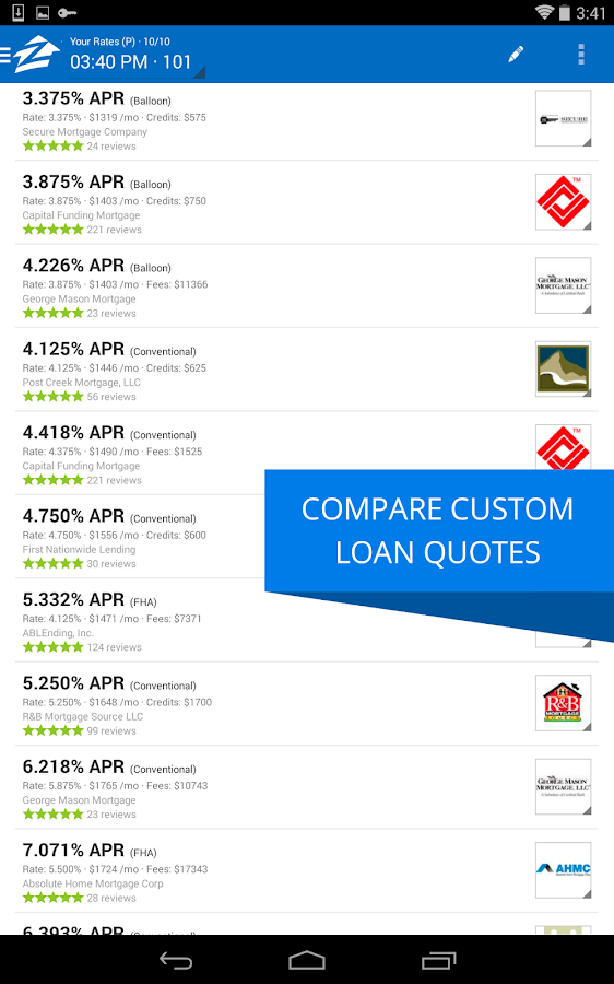 Find out now exactly how much you can save or cash out from refinancing. Zillow Mortgage Calculator - Android Apps on Google Play