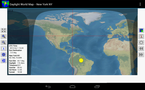 Solar Map Day Night Clock Imgurl