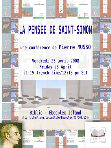 Poster for Pierre Musso lecture