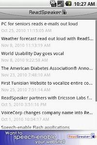 ReadSpeaker audioMobile screenshot 1