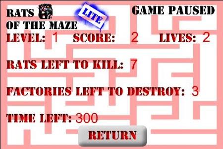 Rats of the Maze Lite screenshot 4