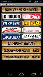 Periódicos de Costa Rica screenshot 0