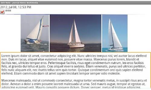 Journal Notes Multimedia screenshot 0