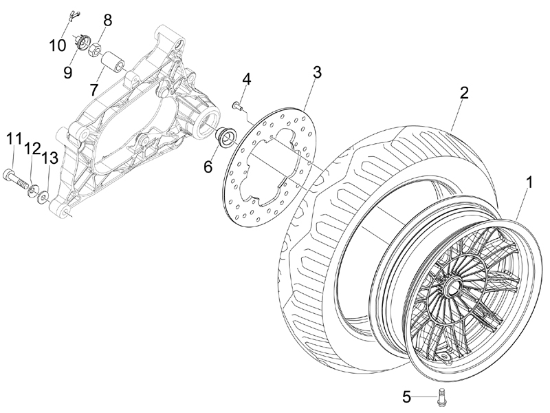 Modern Vespa : MP3 250 vs 400 Bolt Pattern?