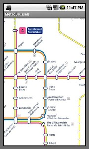 Brussels Metro Map screenshot 1