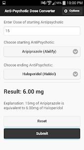 AntiPsychotic Dose Converter screenshot 1