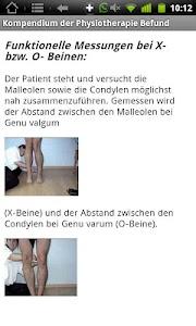 Physiokompendium Befund Test screenshot 1