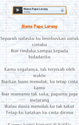 Lirik Lagu Judika Mama Papa Larang : lirik, judika, larang, Judika, Larang, Berbagai, Penting