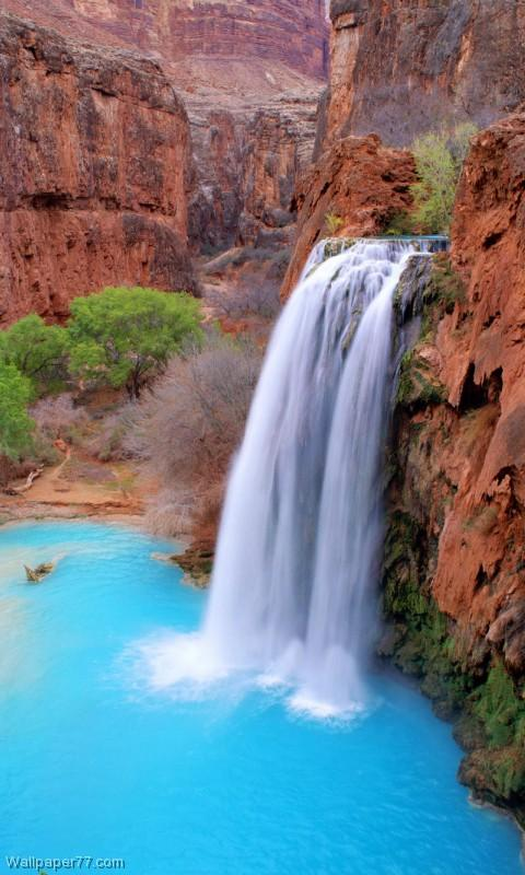 Havasu Falls Iphone 6 Wallpaper Waterfall Live Wallpapers Android Apps On Google Play