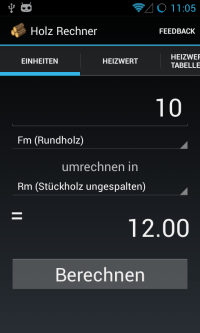 NoR Holz Rechner - Android Apps on Google Play