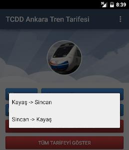 TCDD Ankara Tren Tarifesi screenshot 1