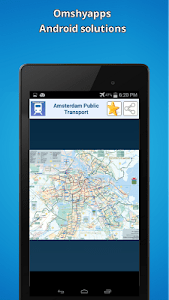 Amsterdam public transport map screenshot 3