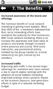 Social Network Marketing screenshot 2