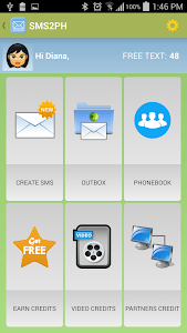 SMS2PH Free screenshot 2