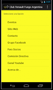 Club Renault Fuego Argentina screenshot 0