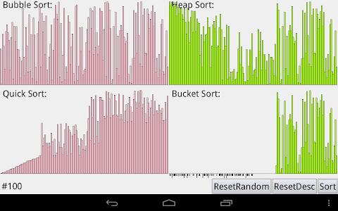 sortVisualization screenshot 1