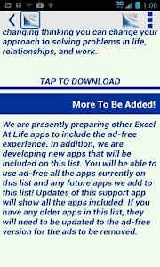 Excel At Life Ad-Free Support screenshot 2
