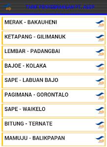 Tarif Tiket Kapal PT. ASDP screenshot 1
