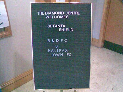 Pre-match sign...
