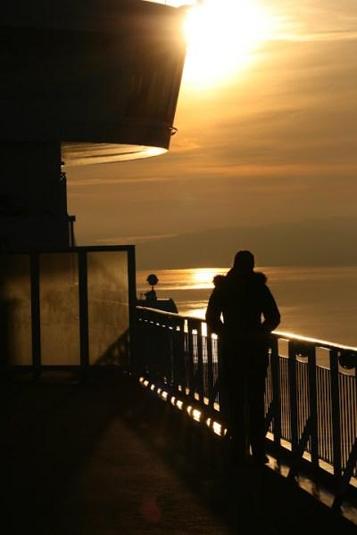 Schon bald ging über dem Oslofjord die Sonne unter