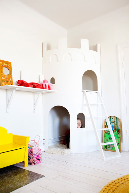 Divertida idea para decorar una habitación infantil.
