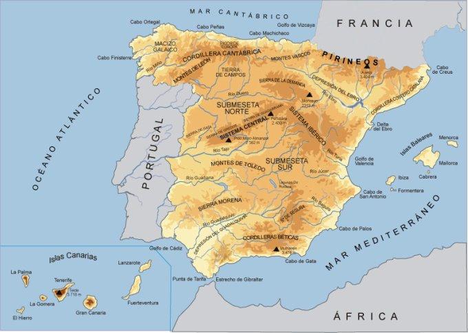 Cabo Ortegal Mapa Fisico.Mapas Fsicos