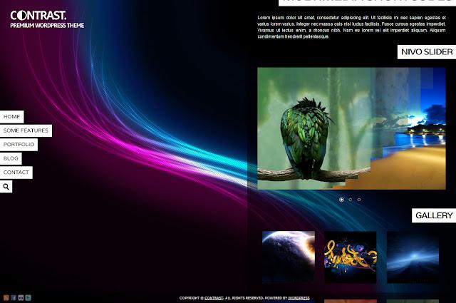*背景充滿變數的全畫面網站|Contrast Web Site 5