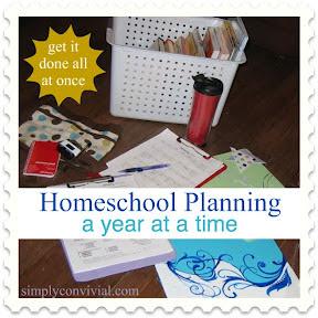 yearly homeschool planning