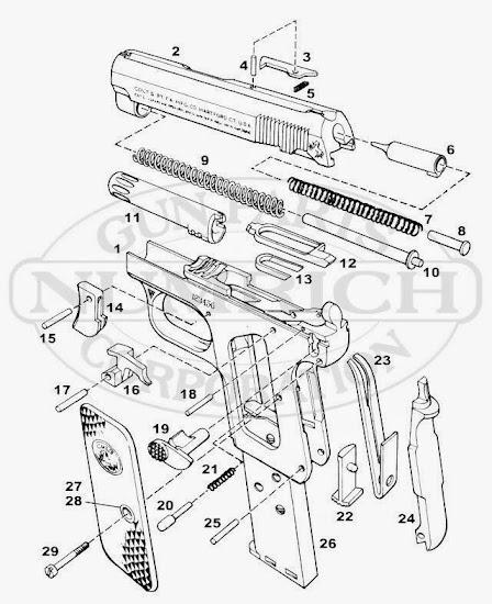 Colt Model 1908 .25 recoil spring plug