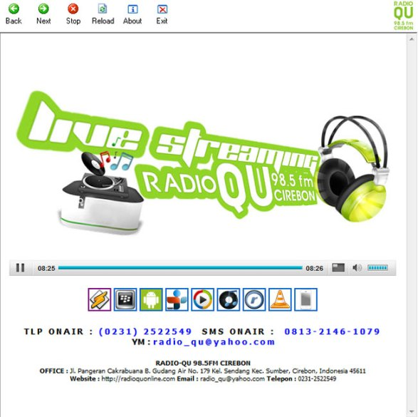 Aplikasi Radio Streaming Islam Ahlussunnah RadioQU 98.5 FM Cirebon