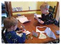 snow day paper play fun - cutting and drawing at http://www.momistheonlygirl.com