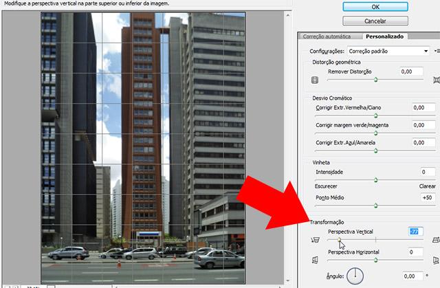 Corrigindo a perspectiva vertical no Photoshop