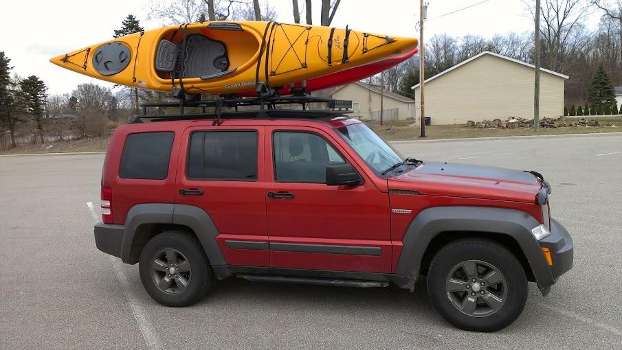 kayaks on my custom kk rack over my