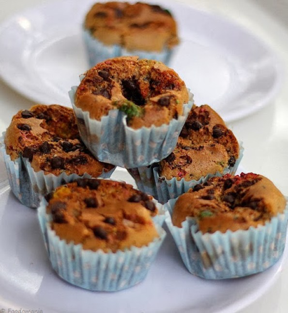 Almond Butter Chocolate Chip Cupcakes Recipe |Healthy, Eggless (Vegan)