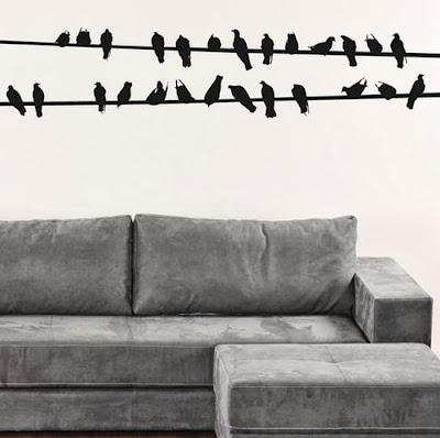 Decorar con pájaros.
